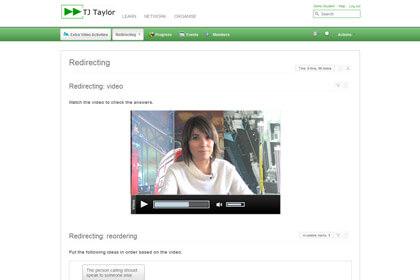 Screenshot di un esempio di esercizio online
