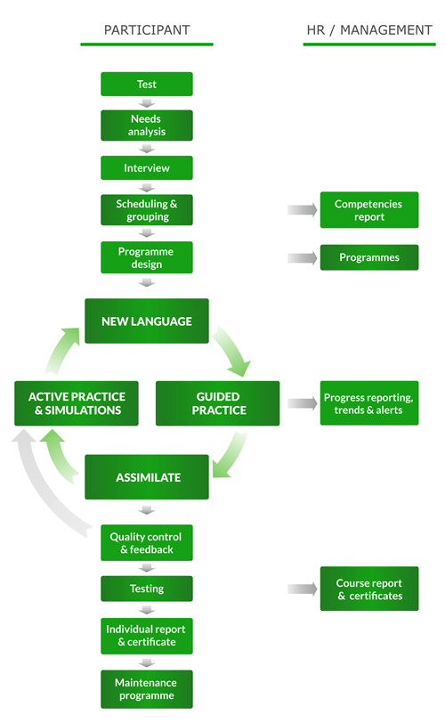 The training cycle from planning and delivery to reporting and assessment