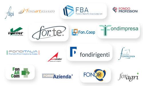 Principali fondi interprofessionali con cui organizziamo la formazione finanziata