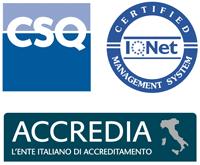 Logo degli organismi di certificazione ISO 9001 che ci hanno accreditato