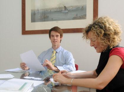 Valutazione del livello con il docente e uno studente