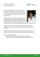 Esempio di un corporate trainer profile